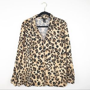 Lane Bryant leopard printed blouse